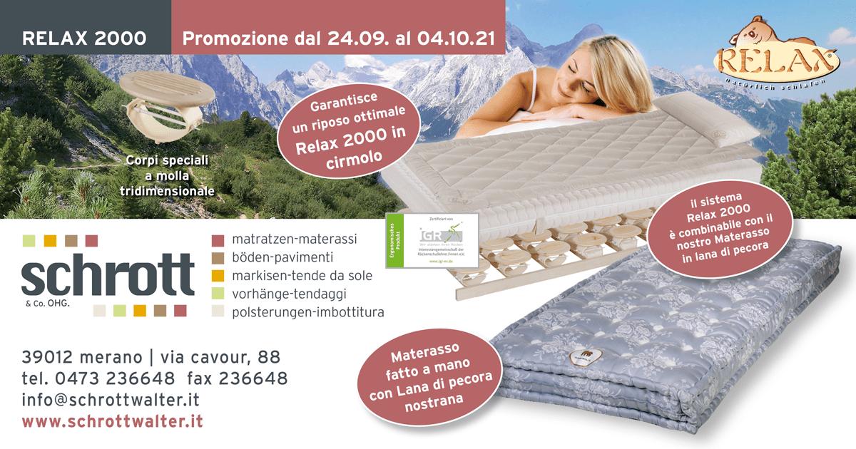 Sistema di riposo Relax 2000 - Promozione
